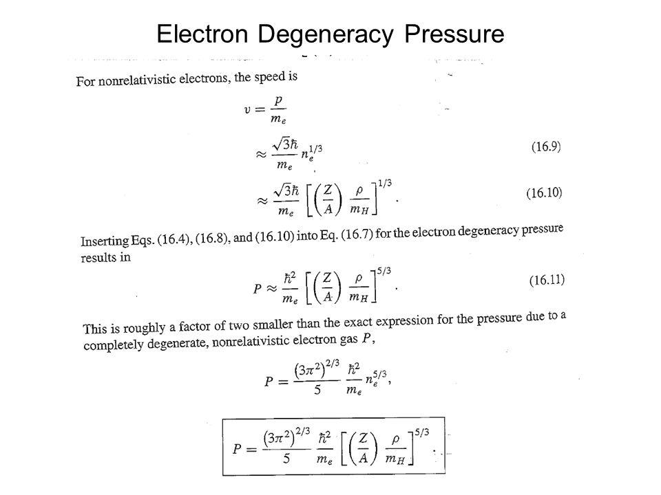 Electron Degeneracy Pressure