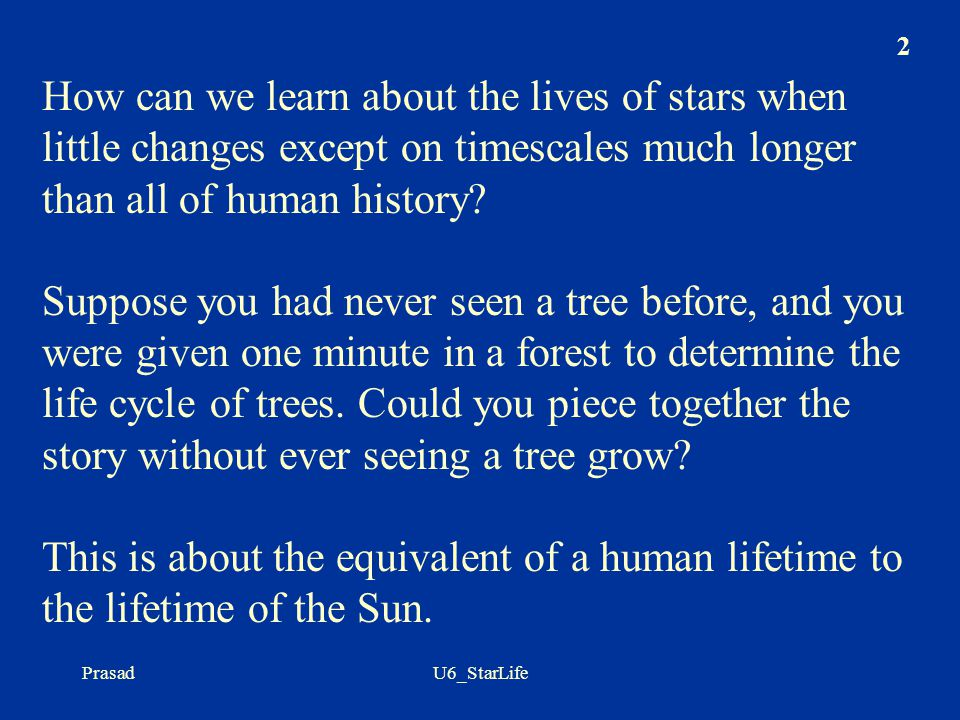 How can we learn about the lives of stars when little changes except on timescales much longer than all of human history
