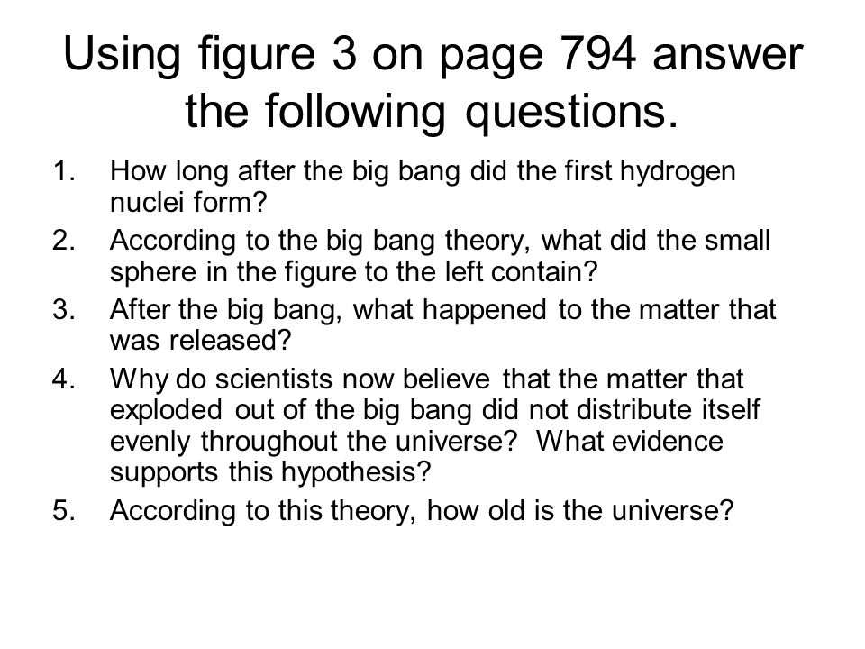 Using figure 3 on page 794 answer the following questions.
