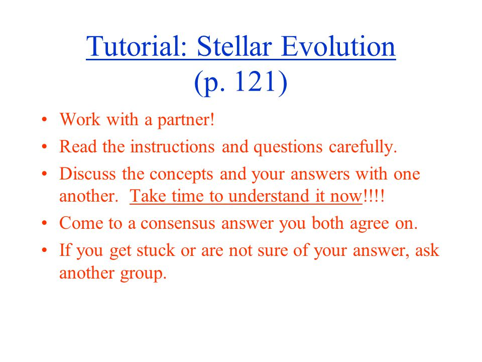 Tutorial: Stellar Evolution (p. 121)