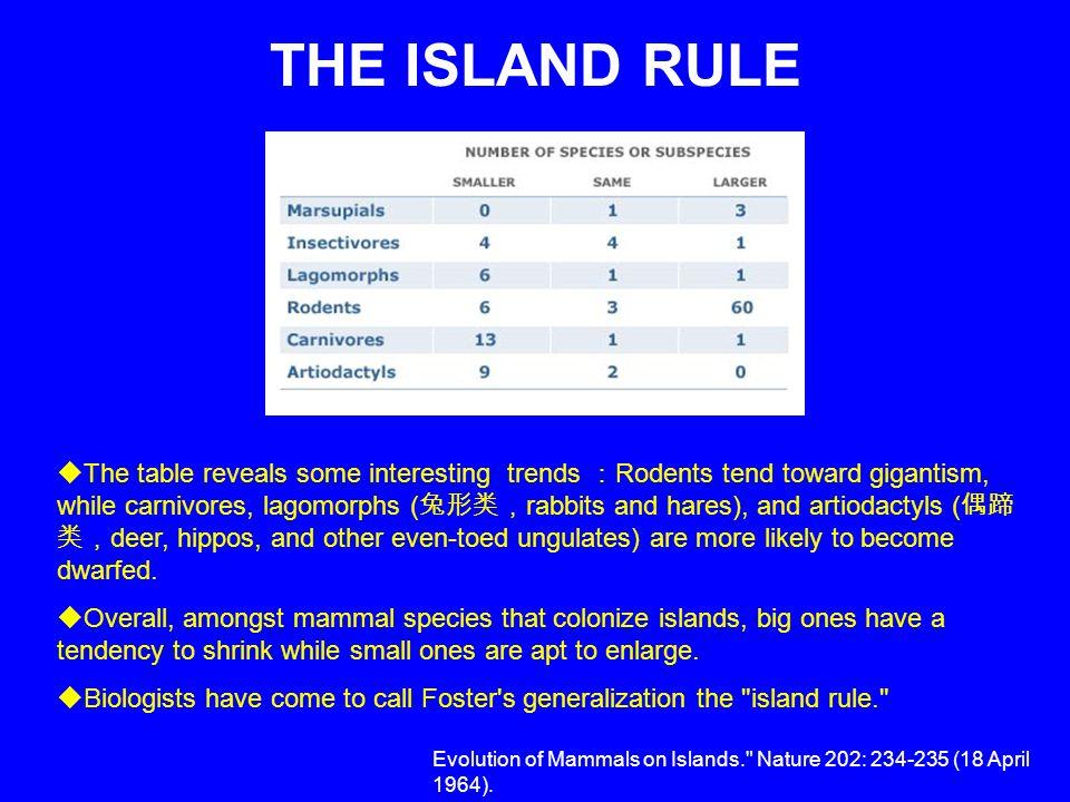 THE ISLAND RULE