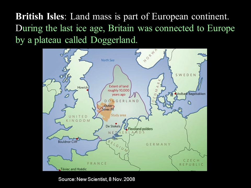 British Isles: Land mass is part of European continent