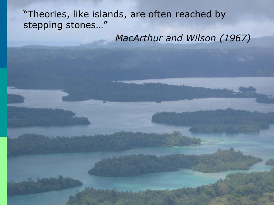 Theories, like islands, are often reached by stepping stones…