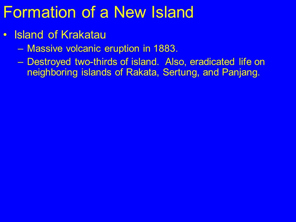 Formation of a New Island