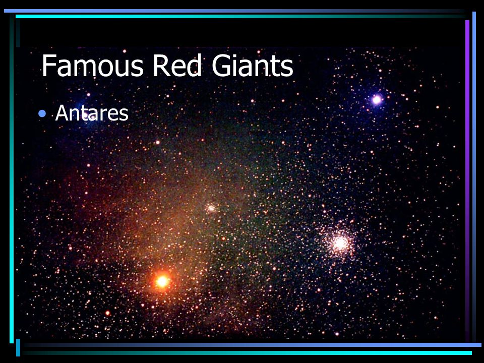 Famous Red Giants Antares