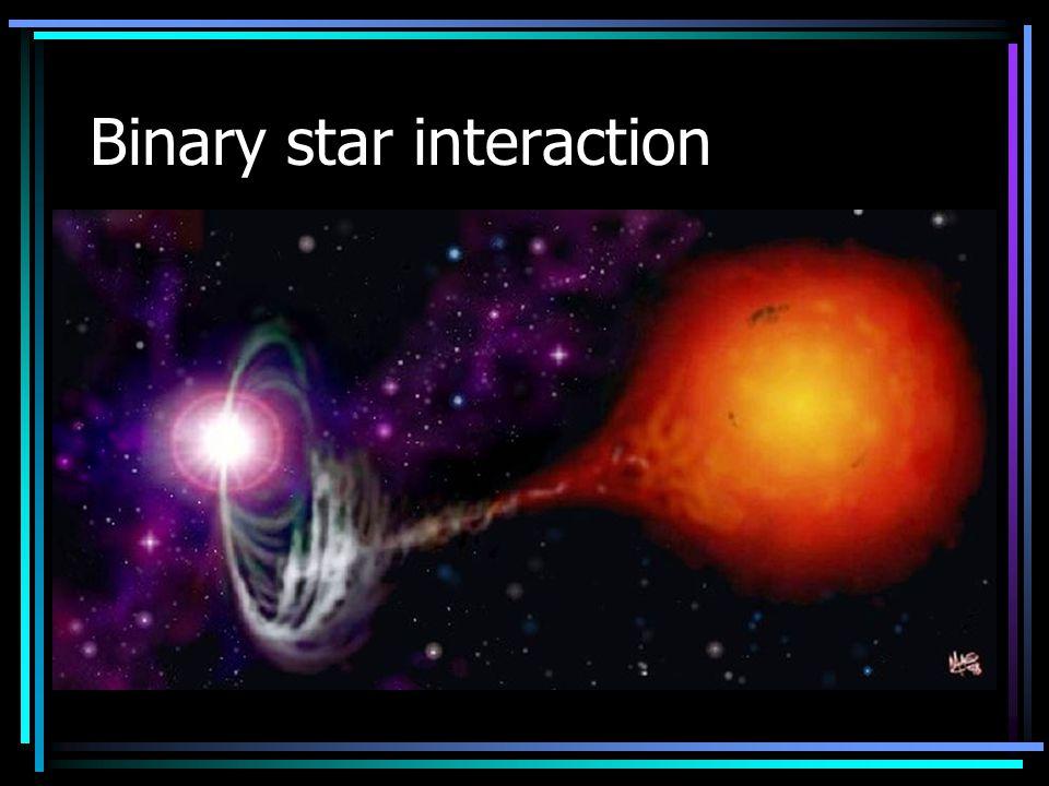 Binary star interaction