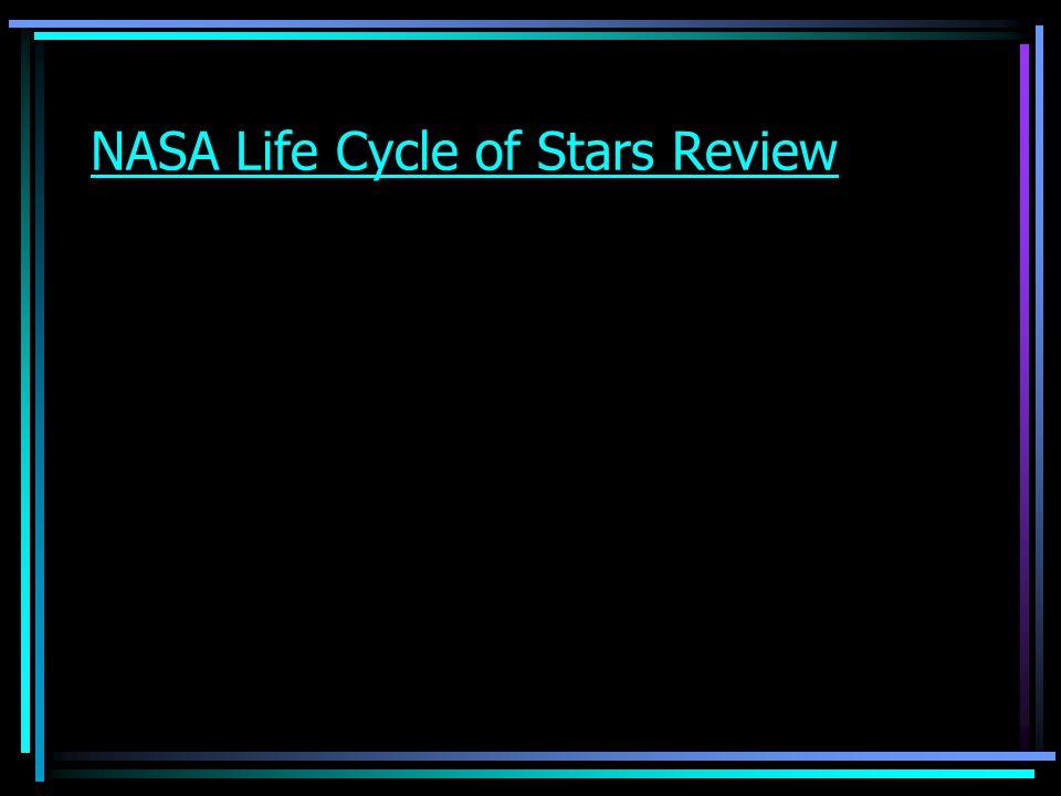 NASA Life Cycle of Stars Review