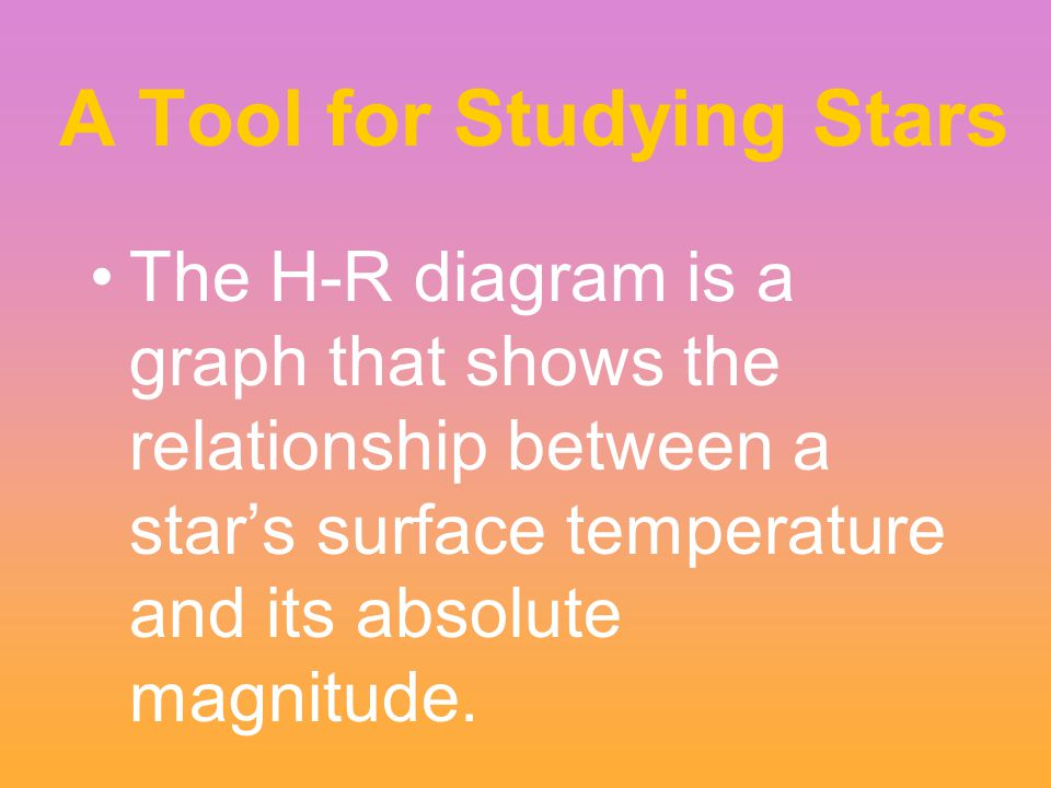 A Tool for Studying Stars
