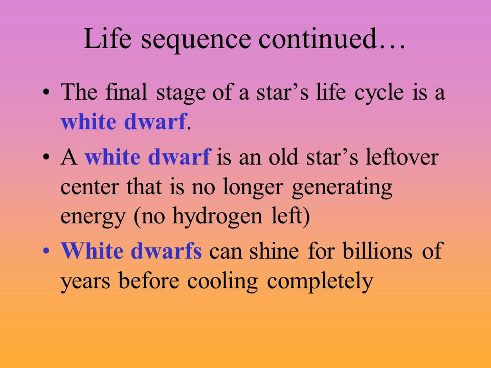 Life sequence continued…