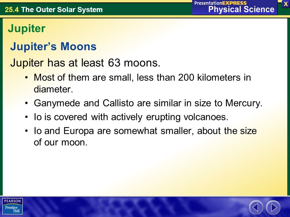 Jupiter has at least 63 moons.