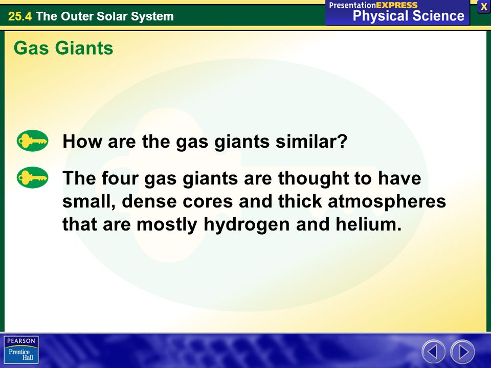 Gas Giants How are the gas giants similar