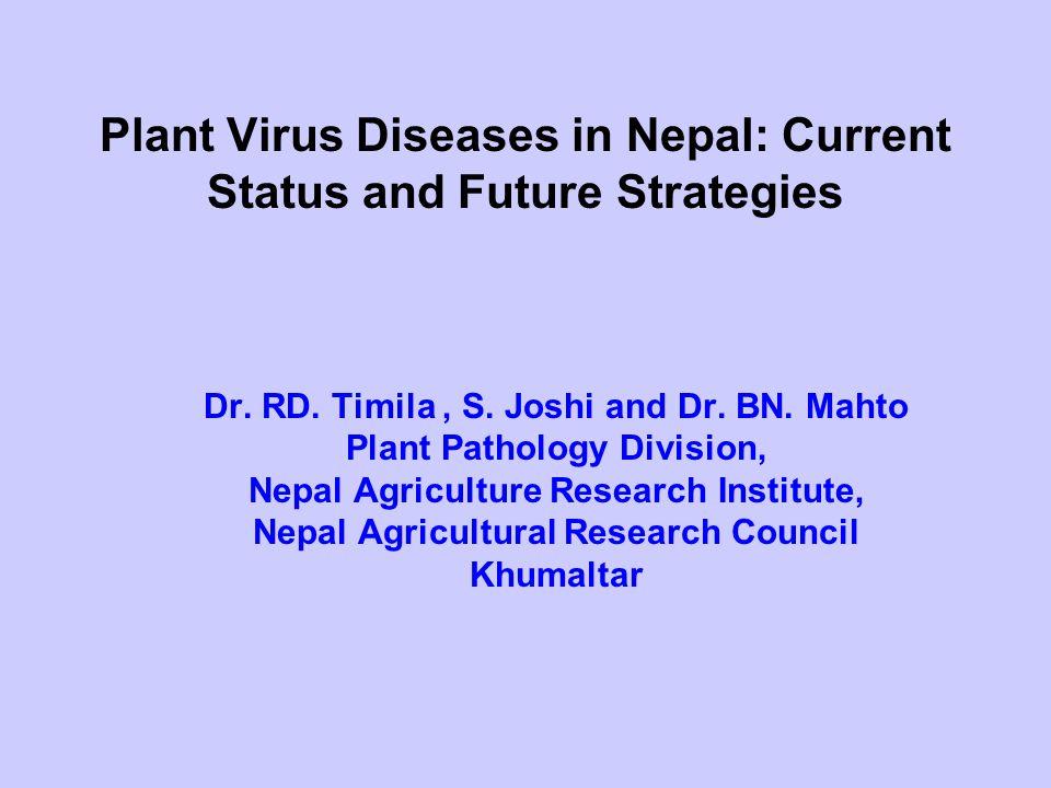 Plant Virus Diseases in Nepal: Current Status and Future Strategies