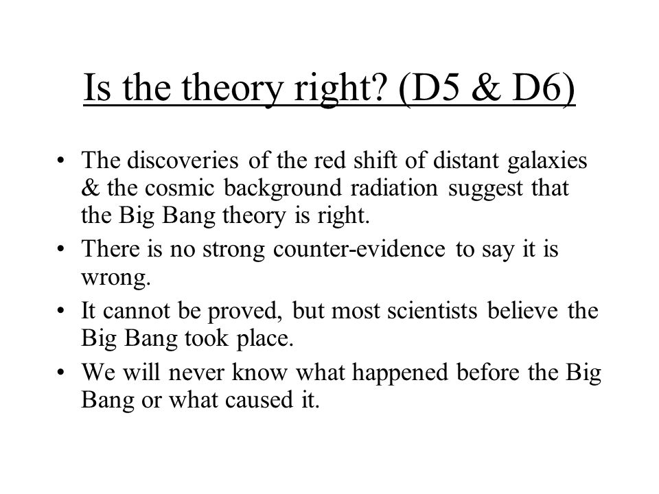 Is the theory right (D5 & D6)