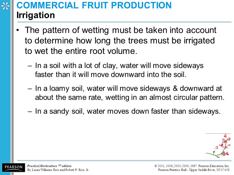 COMMERCIAL FRUIT PRODUCTION Irrigation