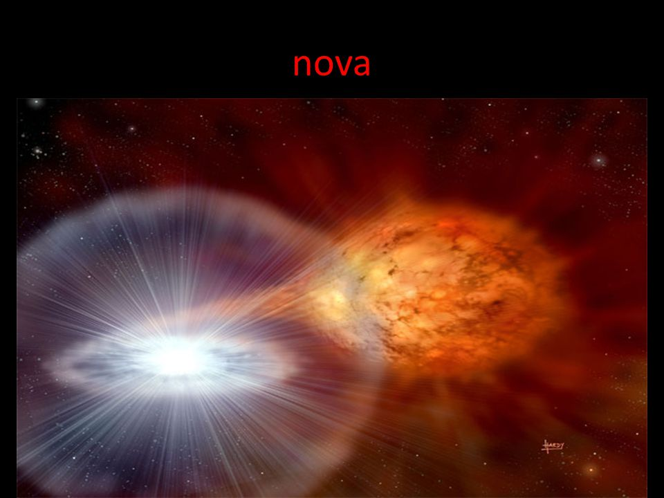 nova A possible fate of a white dwarf that is part of a binary star system.