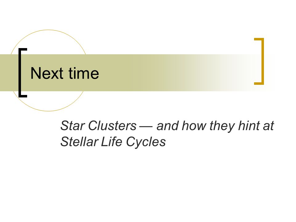 Star Clusters — and how they hint at Stellar Life Cycles
