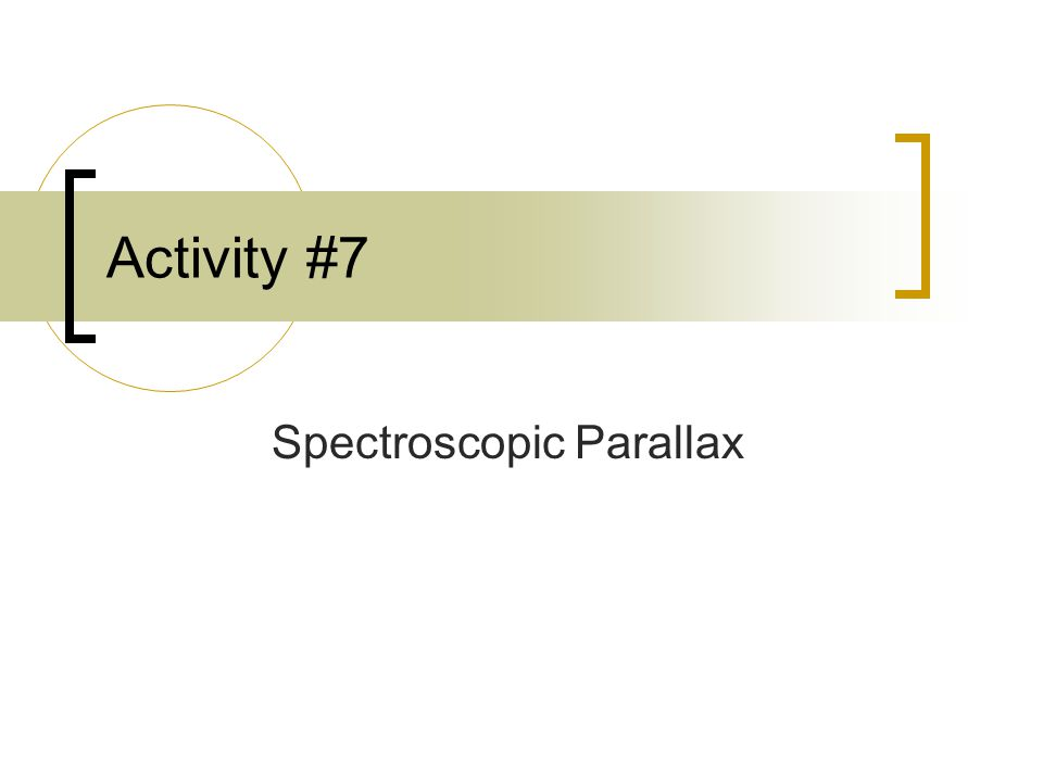 Spectroscopic Parallax