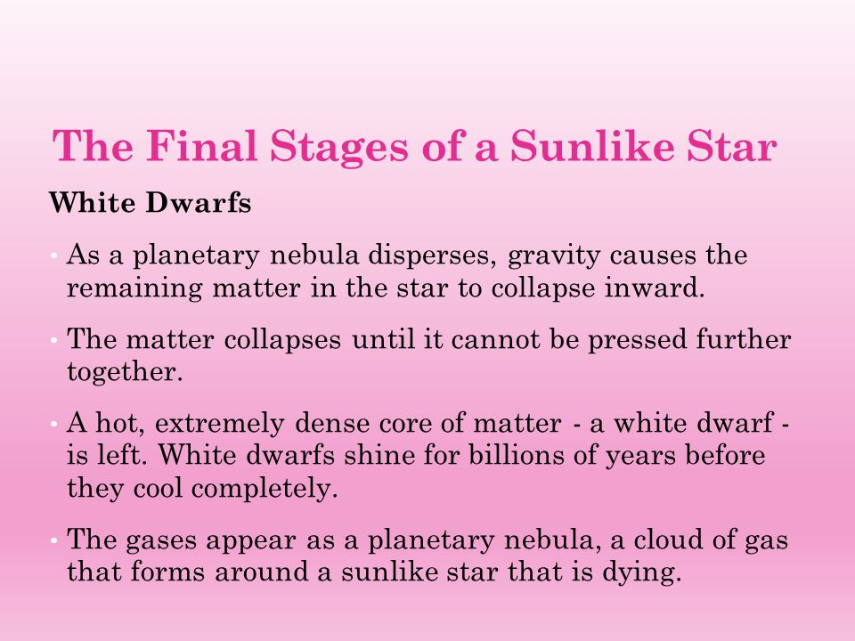 The Final Stages of a Sunlike Star