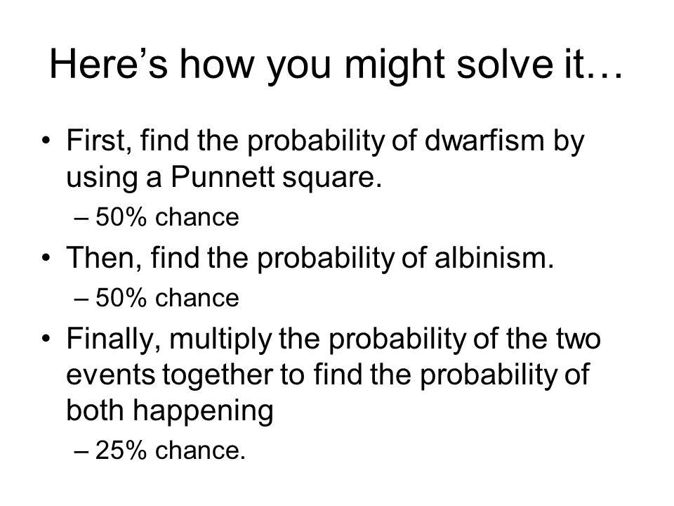 Here's how you might solve it…