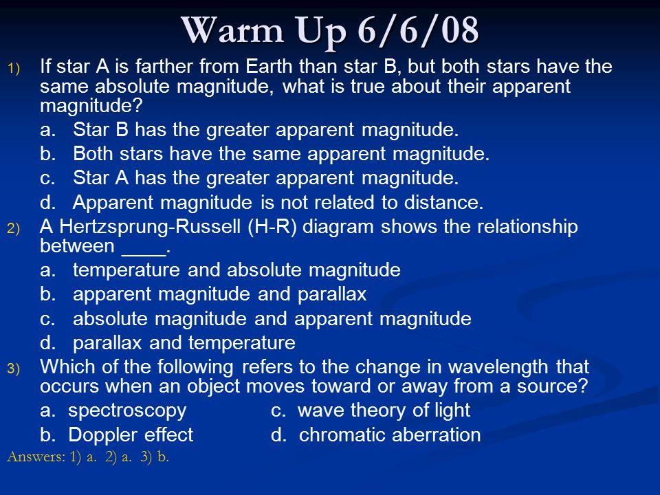 Warm Up 6/6/08