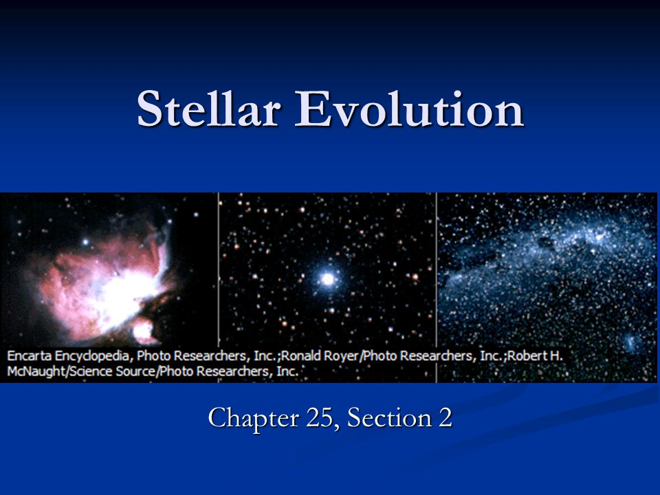 Stellar Evolution Chapter 25, Section 2