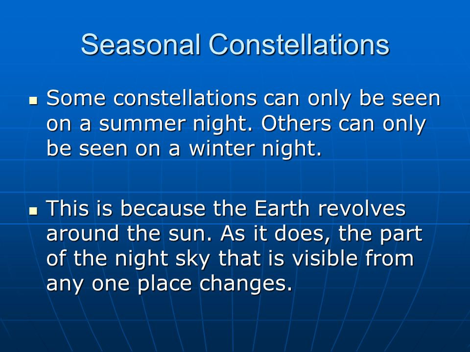 Seasonal Constellations