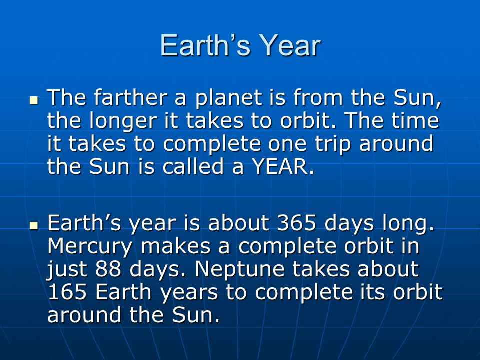 Earth's Year