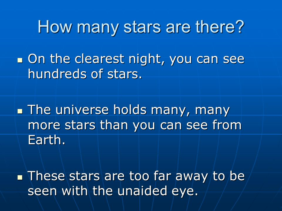 How many stars are there