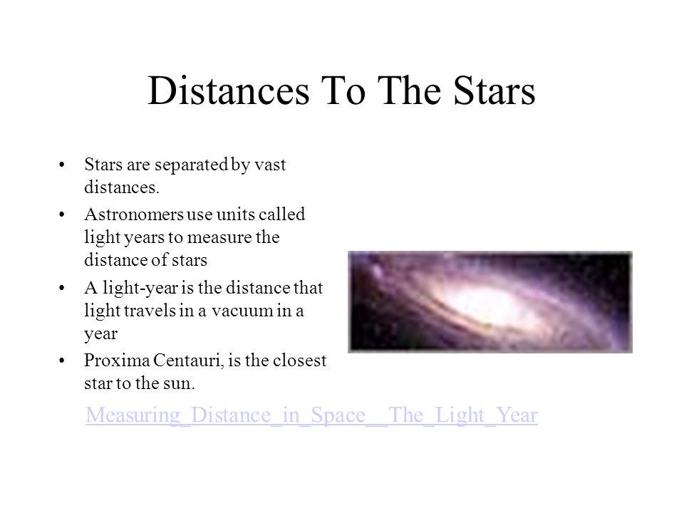 Distances To The Stars Measuring_Distance_in_Space__The_Light_Year