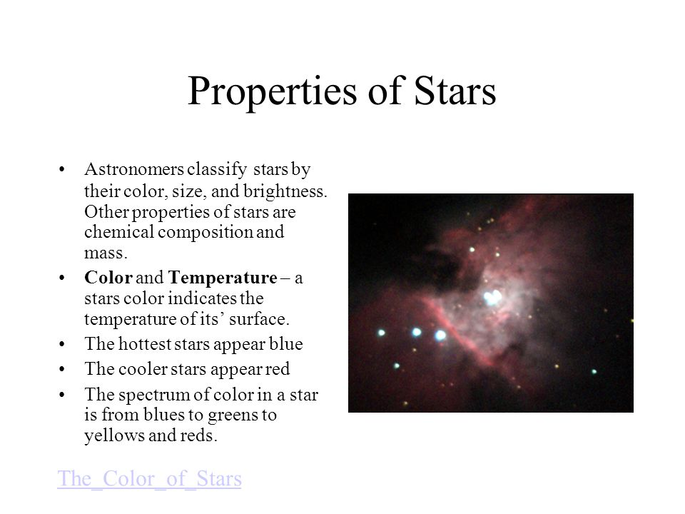 Properties of Stars The_Color_of_Stars