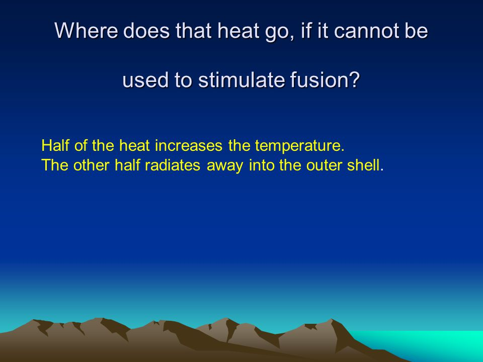 Where does that heat go, if it cannot be used to stimulate fusion