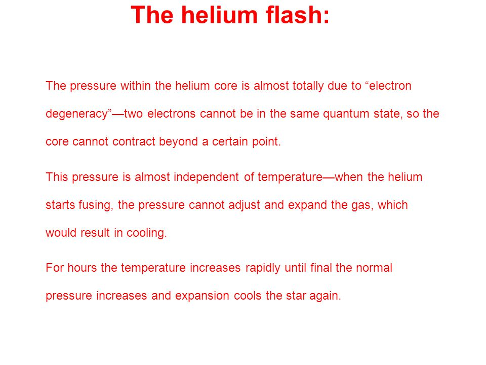The helium flash: