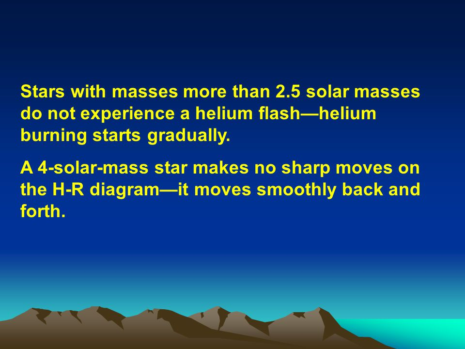 Stars with masses more than 2