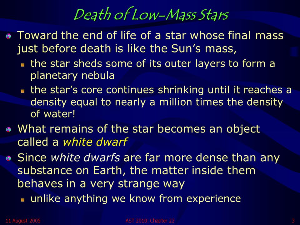 Death of Low-Mass Stars