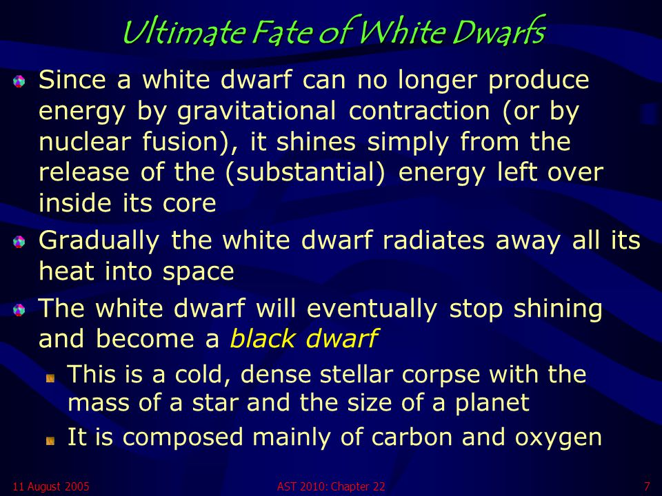 Ultimate Fate of White Dwarfs