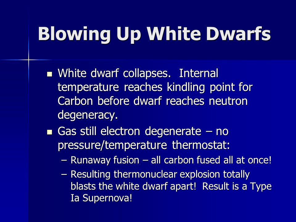Blowing Up White Dwarfs