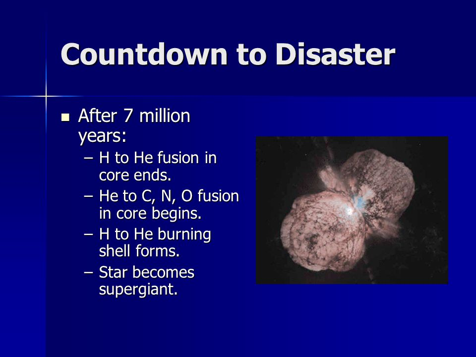 Countdown to Disaster After 7 million years: