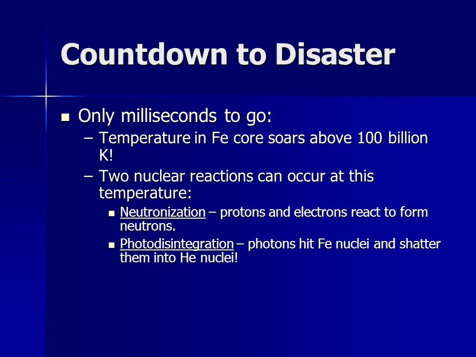 Countdown to Disaster Only milliseconds to go: