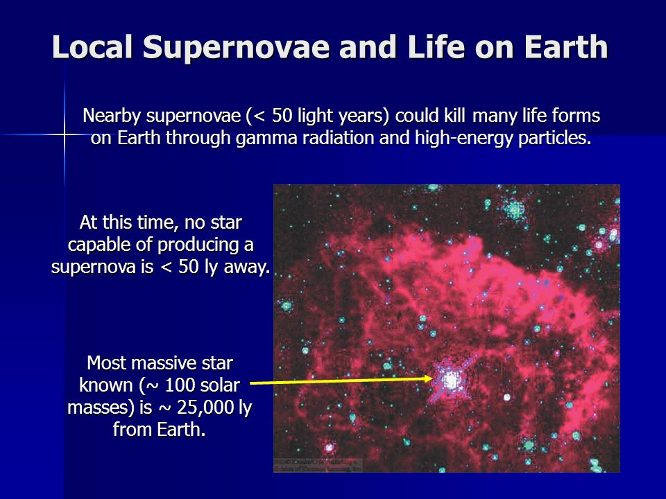 Local Supernovae and Life on Earth