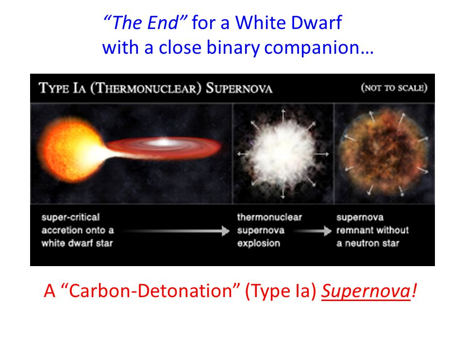 The End for a White Dwarf