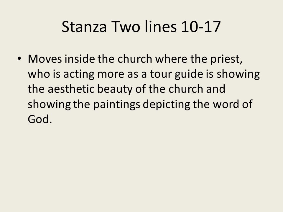 Stanza Two lines 10-17