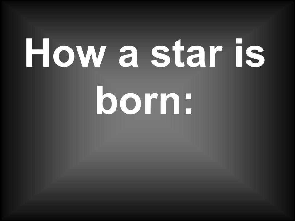 How a star is born: