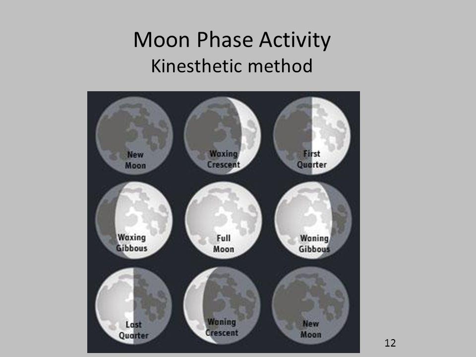 Moon Phase Activity Kinesthetic method