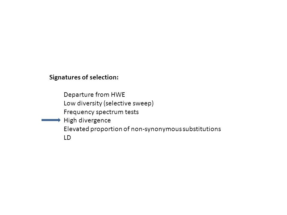 Signatures of selection: