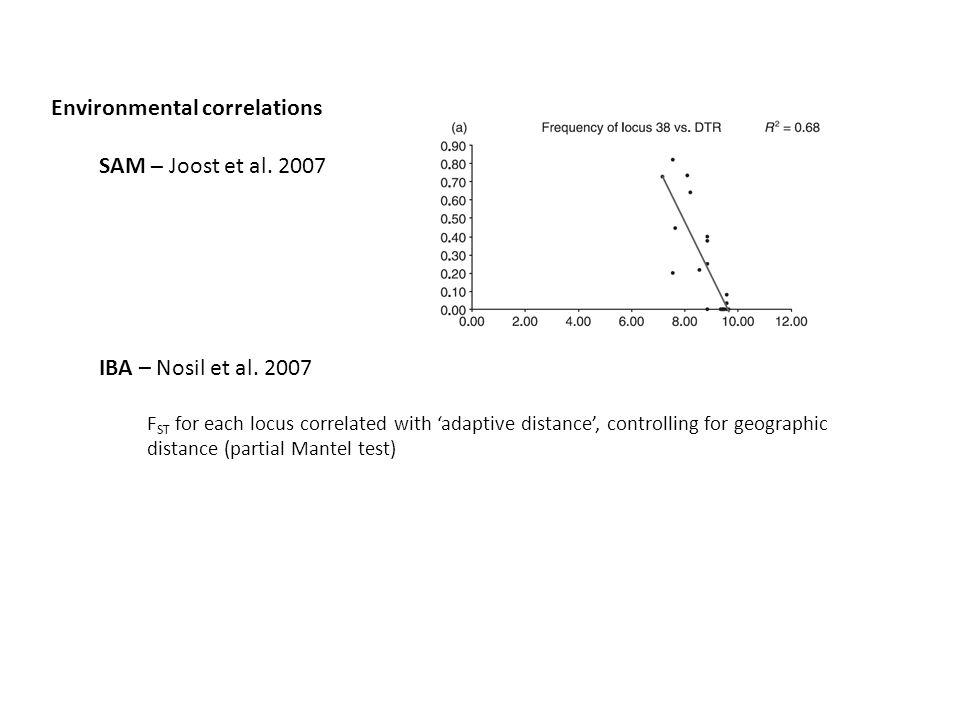 Environmental correlations SAM – Joost et al. 2007