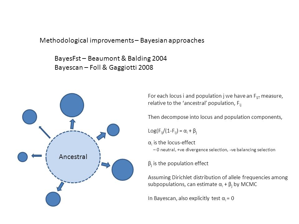 Methodological improvements – Bayesian approaches