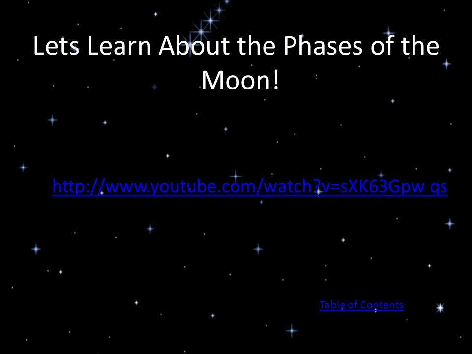 Lets Learn About the Phases of the Moon! Moon!