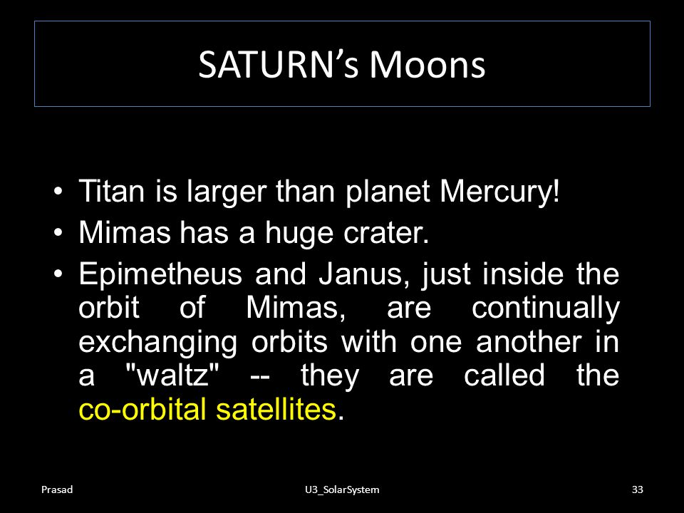 SATURN's Moons Titan is larger than planet Mercury!
