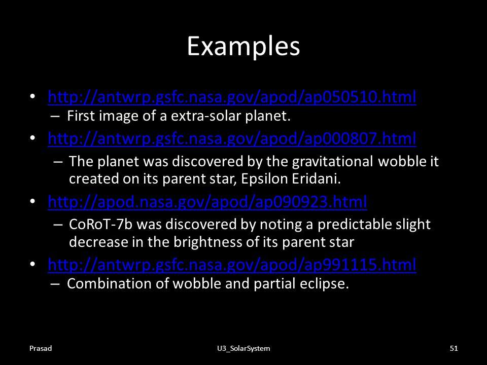 Examples http://antwrp.gsfc.nasa.gov/apod/ap050510.html
