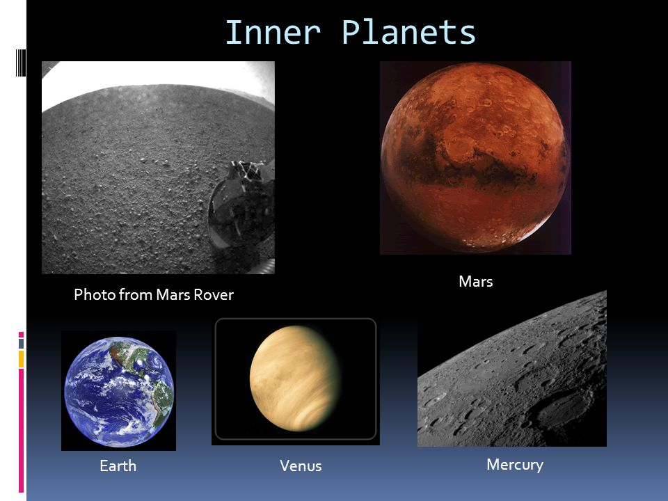 Inner Planets Mars Photo from Mars Rover Earth Venus Mercury